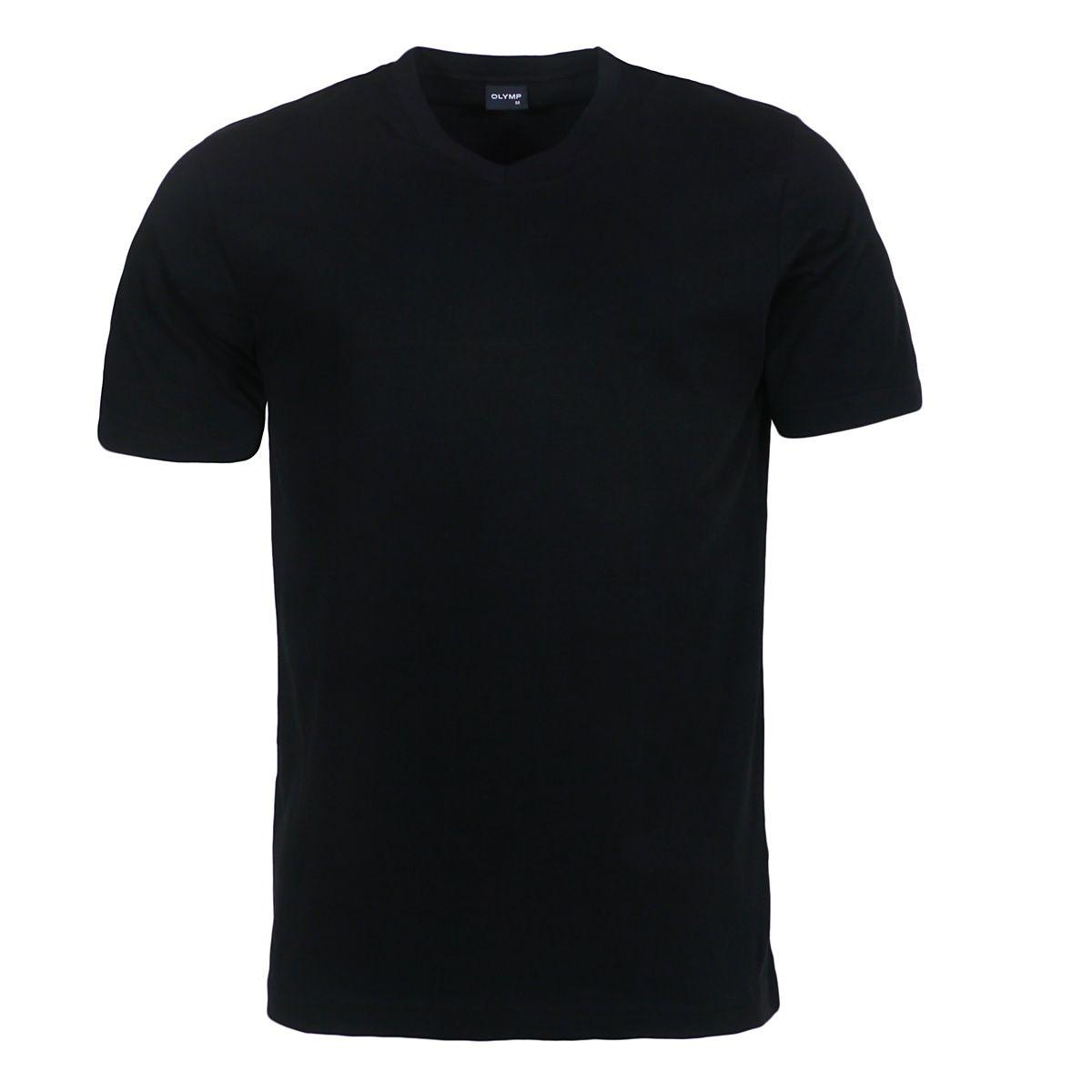 t shirt noir col v grande taille jusqu 39 au 4xl olymp olymp. Black Bedroom Furniture Sets. Home Design Ideas