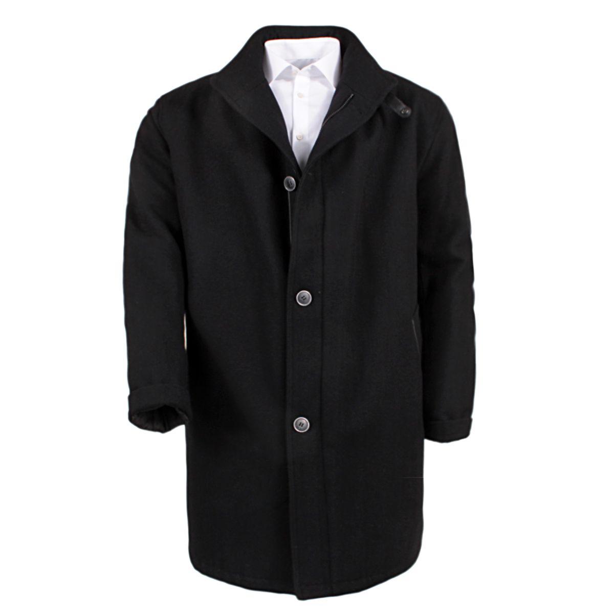 manteau laine noir grande taille du 3xl au 8xl size factory bugatti. Black Bedroom Furniture Sets. Home Design Ideas