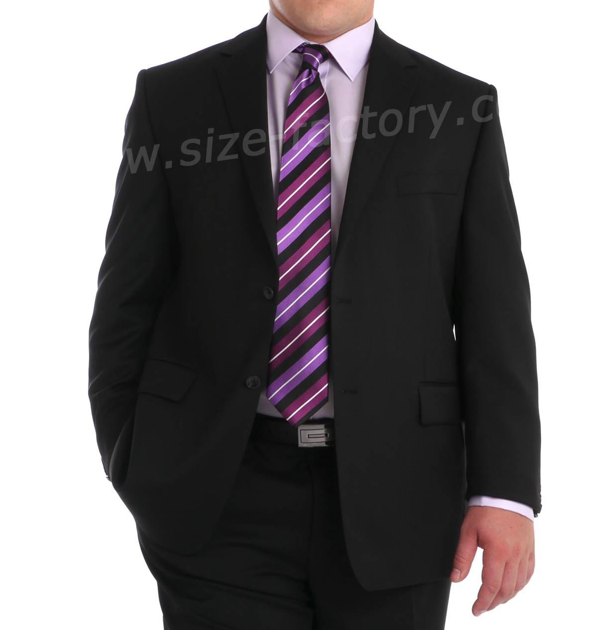 veste de costume grande taille excellence noir taille courte jusqu 39 au 72 maneven maneven. Black Bedroom Furniture Sets. Home Design Ideas