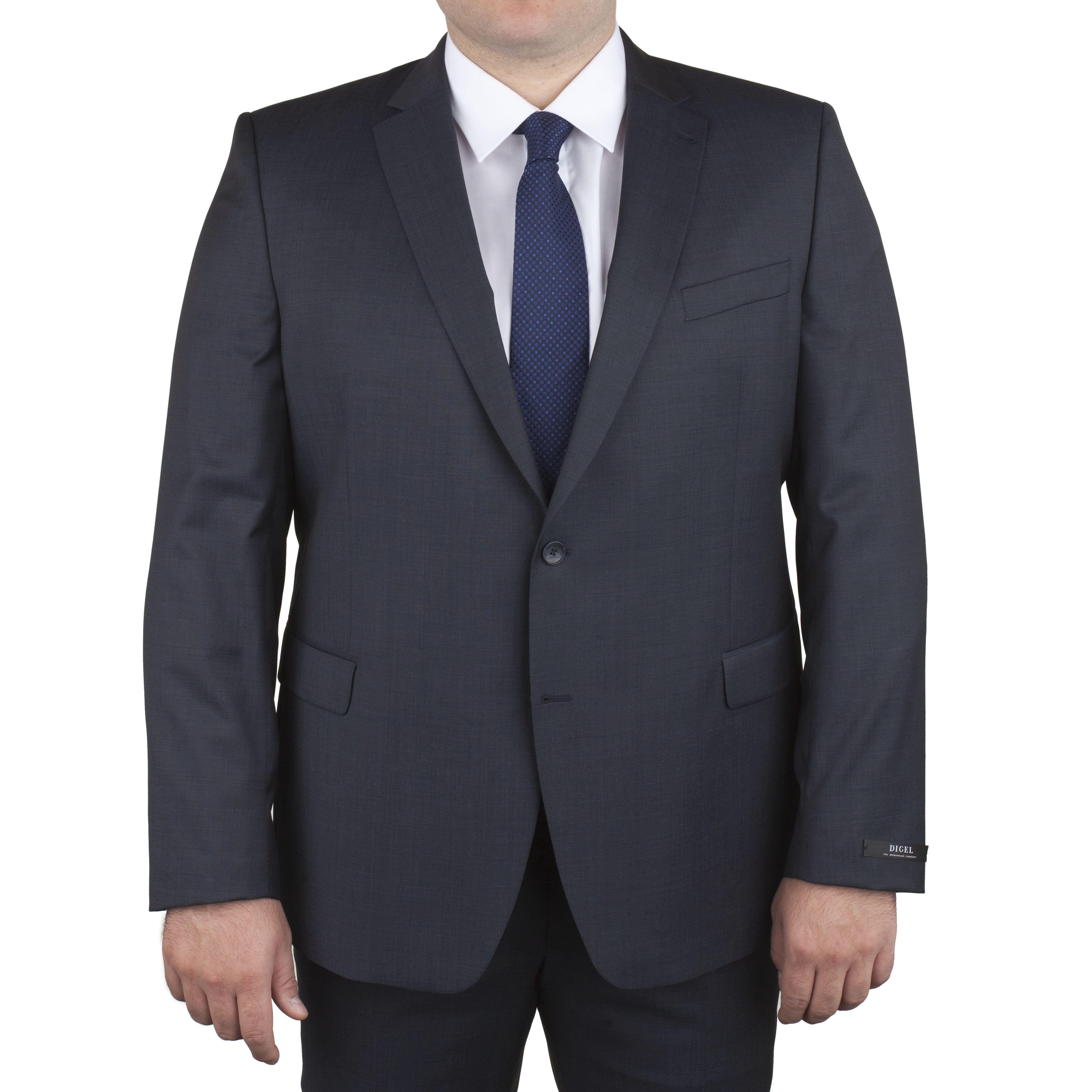veste de costume pr f rence gris bleut pour homme fort du 60 au 68 digel size factory digel. Black Bedroom Furniture Sets. Home Design Ideas