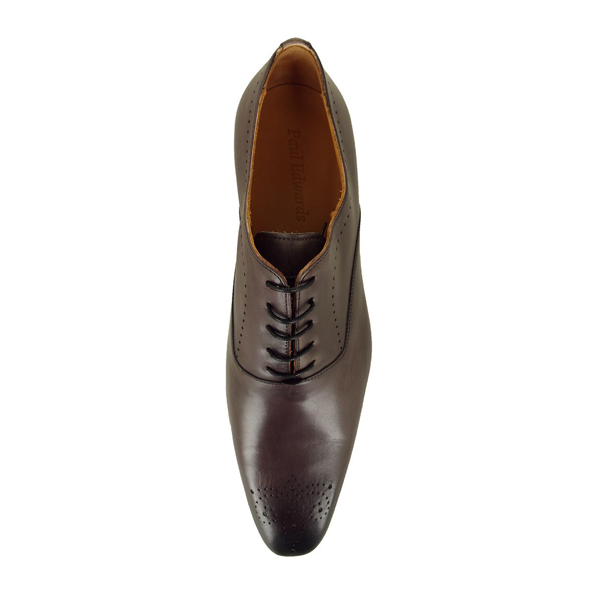 Chaussures richelieu en cuir Paul Edwards grande taille grises