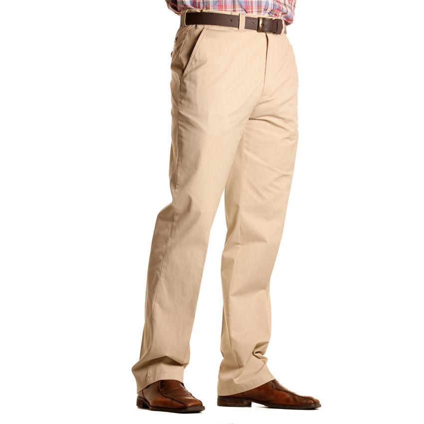 pantalon chino coton beige pour homme grand longueur 38us oakman. Black Bedroom Furniture Sets. Home Design Ideas