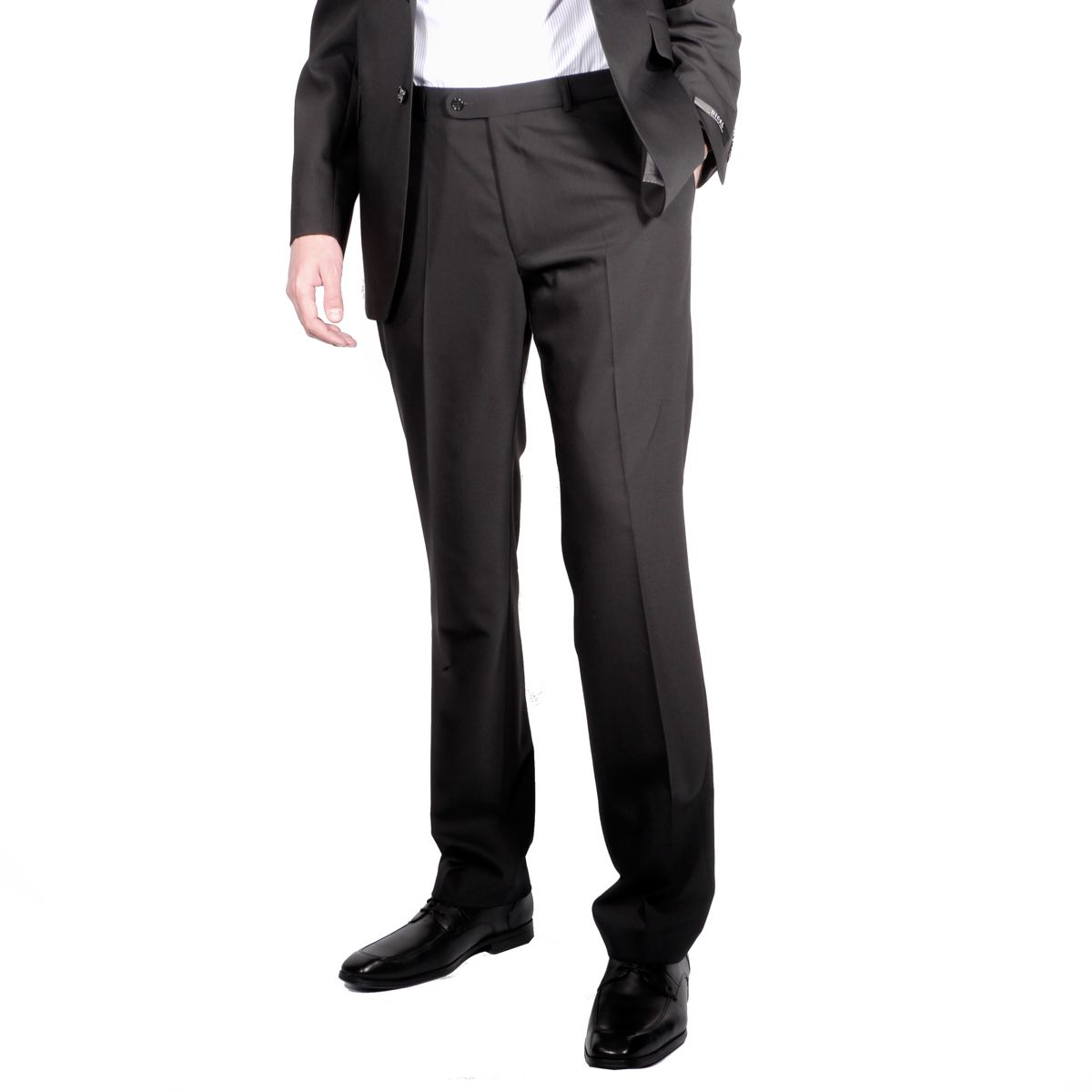 pantalon de costume grande taille noir pour homme grand du. Black Bedroom Furniture Sets. Home Design Ideas