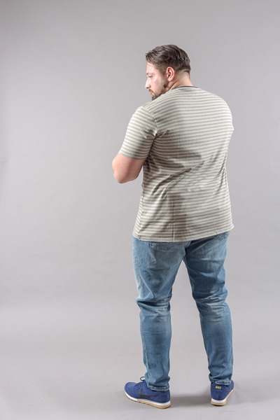 Tee-shirt dos grande taille homme fort