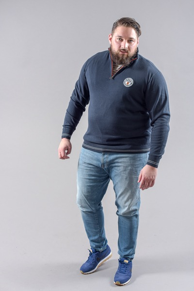 Pull grande taille homme fort