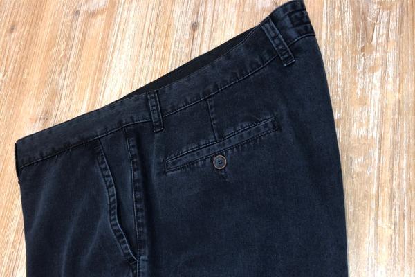 poche arrière pantalon en tencel