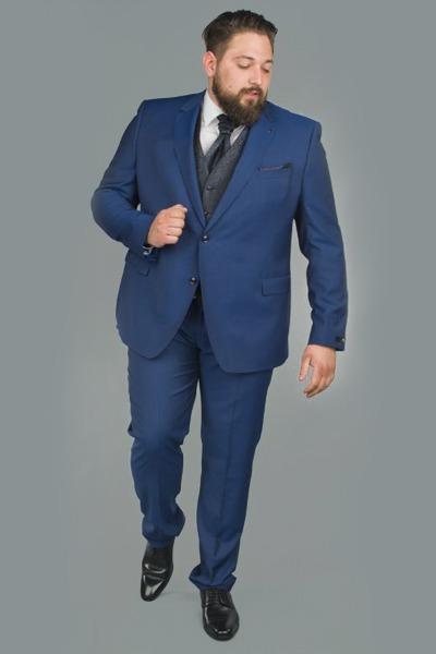 Costume bleu roi de mariage - Size Factory