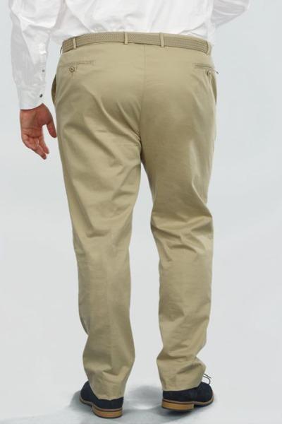 Pantalon chino beige grande taille dos
