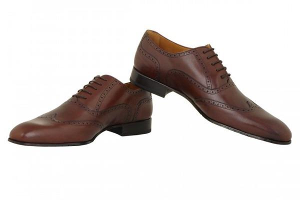 chaussure en cuir lisse